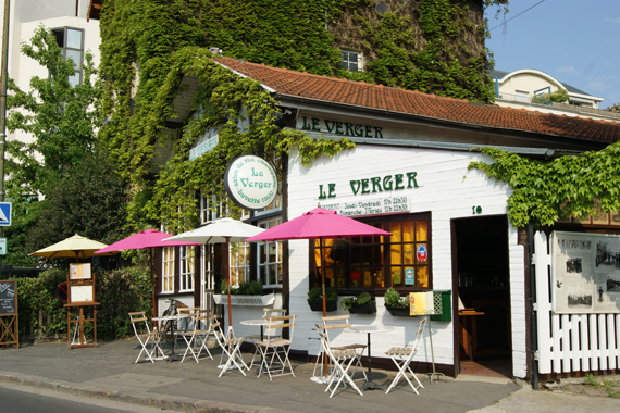 Restaurant LE VERGER - la devanture aux bords de Marne